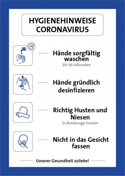 Aufkleber Hygienehinweis | Standard | DIN A4